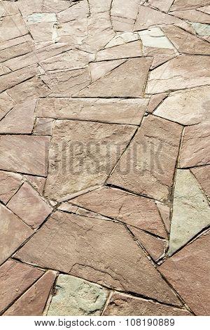 Mosaic On The Footpath