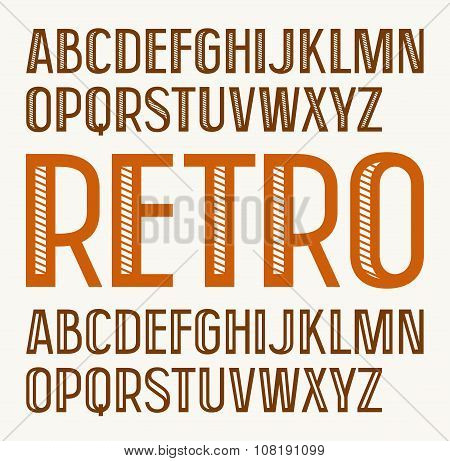 Sans Serif Decorative Font In Retro Style