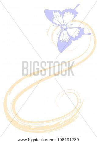 Translucent butterfly .Image Suitable for background.