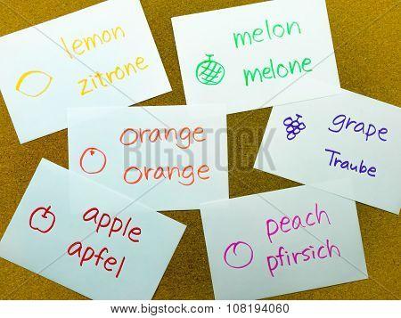 Language Flash Cards; German