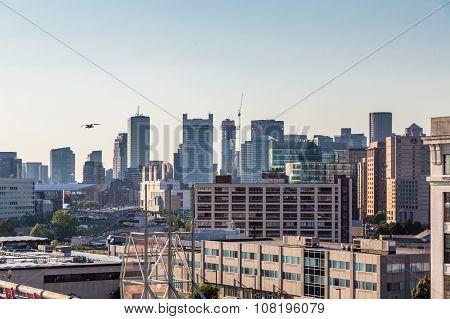 Boston Skyline Across Distanct