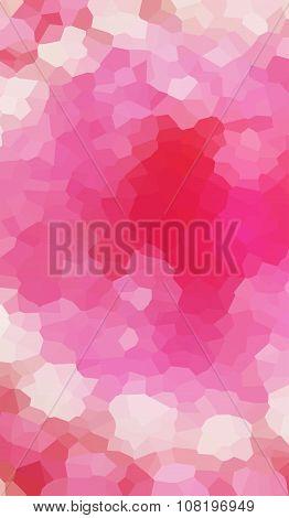 Pink beige crimson triangular polygon background