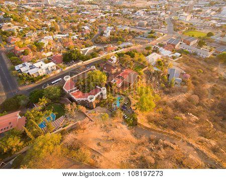 Windhoek, Namibia: aerial photo of Heinitzburg Castle