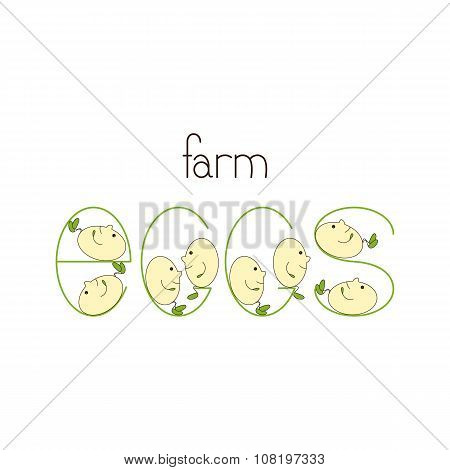 Farm Eggs Logo Template