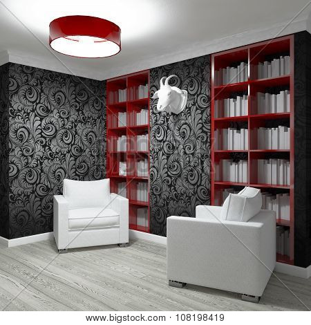 Studying room with two armchairs