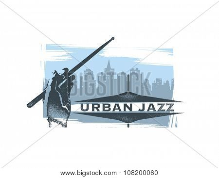 Urban jazz. Art concept.  Vector background.