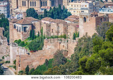 The Alcazaba Of Malaga, Andalusia Spain