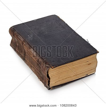 Old Book Isolated On A White Background. Vintage