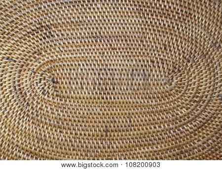 Structure wooden wicker surface