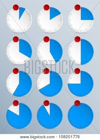 Countdown Timer Set Of Twelve