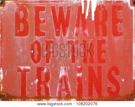 vintage enamel railway sign
