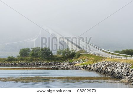 Gimsoystraumen Bridge, Lofoten, Norway