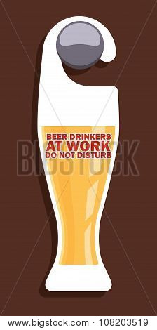 Beer party door hanger design.