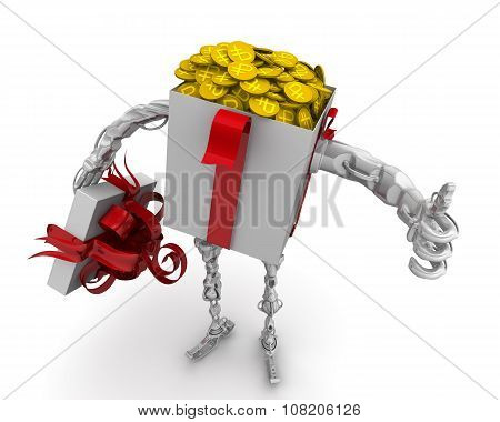 Money - the best gift. Concept with Russian rubles