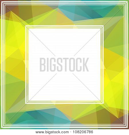 colored abstract border
