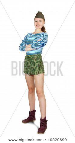 Army Girl Posing