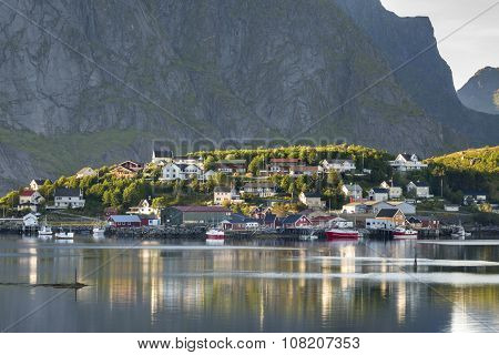 Small Fishing Port Reine, Lofoten Islands, Norway