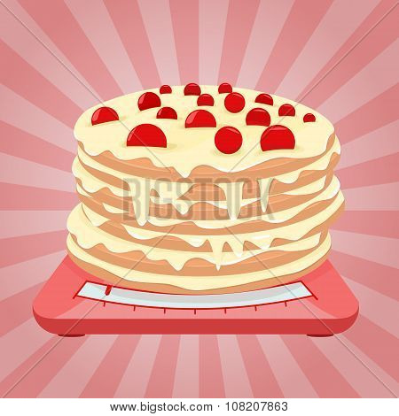 Cake on the scales