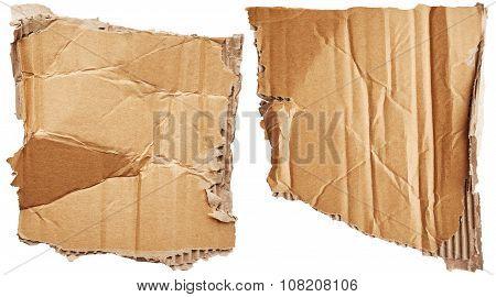 Crumpled Pieces Of Cardboard