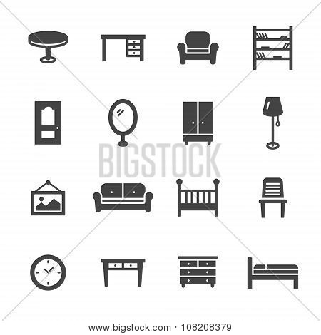 Furniture Solid Icons