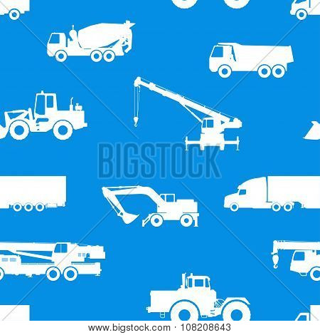 Seamless pattern of cars and vehicles.
