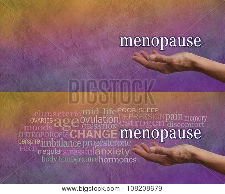 Menopause signs and symptoms word cloud