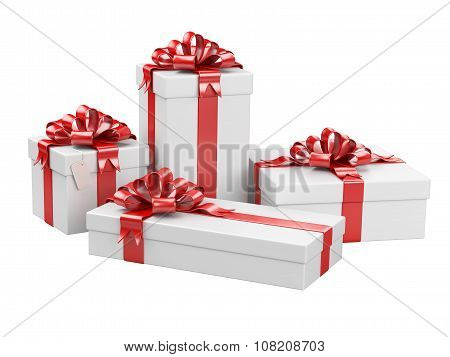 Gift Boxes With Blank Gift Tag