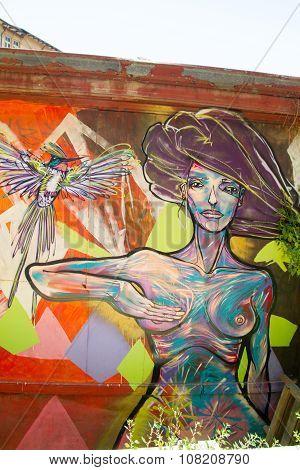 Nude street art Valparaiso