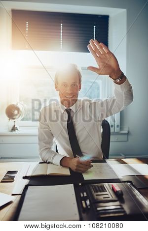 Business Man Giving High Five