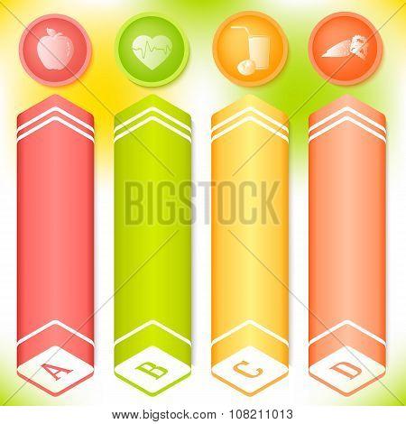 Vitamin Vertical Banner Set Spring Theme