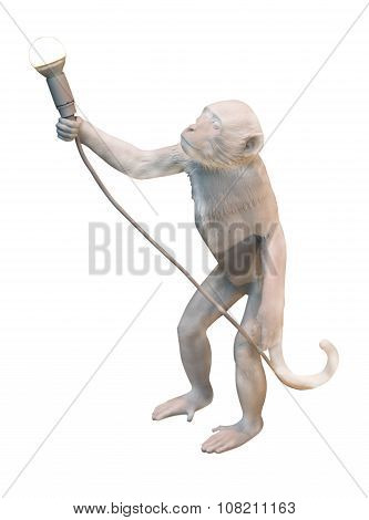 Statuette Of Monkey With Light Bulb