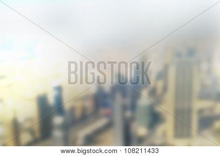 Dubai Skyscrapers Blur The Background