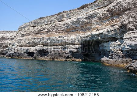 Sea Caves At Tarhankut, Crimea, Ukraine