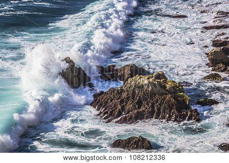 Storm In Sea, Beside The Wild Rock