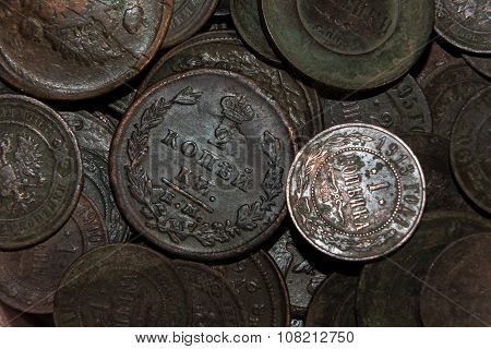 old copper money in oxides
