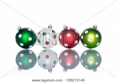 Colorful And Ornate With Dot  Christmas Ball Reflection
