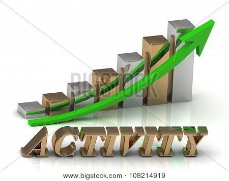 Activity- Inscription Of Gold Letters And Graphic Growth