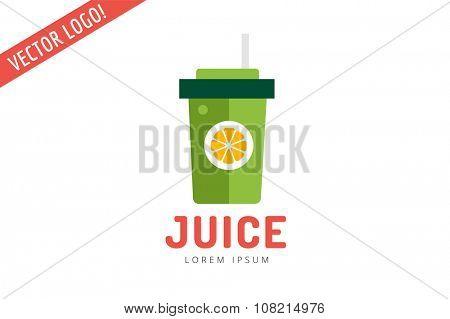 Lime or lemon fruit drink logo icon template design. Fresh juice, drink, yellow color and splash, vegetarian, cold.