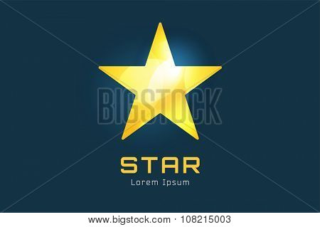 Star logo icon. Leader, boss, winner, rating, rank or competition and astrology symbol. Stock design element. Star icon logotype. Sport logo. Astronomy logo