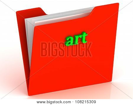 Art - Bright Green Letters On A Gold Folder