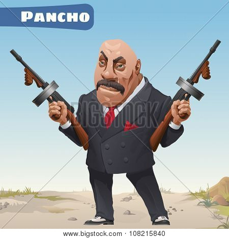 Fictional cartoon character bandit Pancho