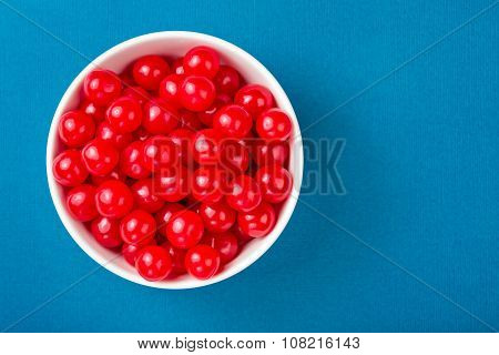 Bowl Of Red Cherry Candies