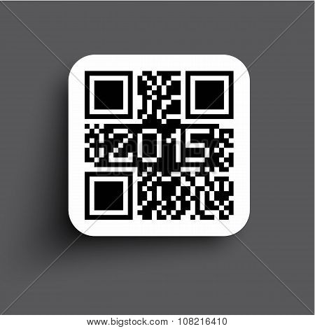 2015 Qr code new style modern background