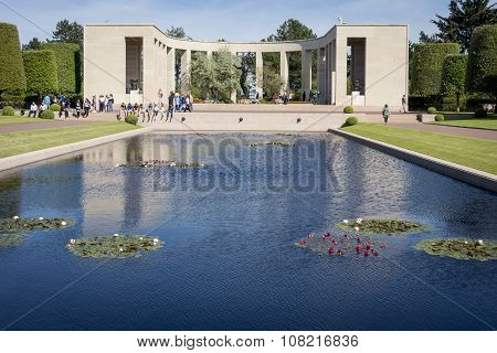 The Reflecting Pool, American Cemetery, Normandy, France