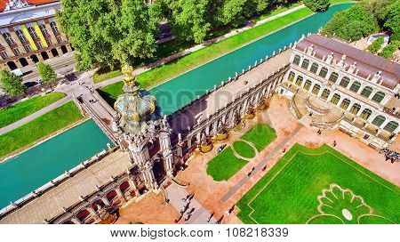 Zwinger Palace (der Dresdner Zwinger) Old Masters Picture Gallery, Which Was Almost Completely Destr
