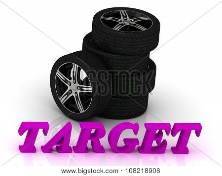 Target- Bright Letters And Rims Black Wheels
