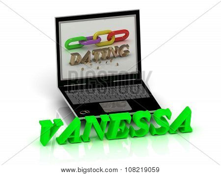 Vanessa- Name And Family Bright Letters Near Notebook