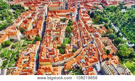 Area Lesser Town Of Prague(mala Strana), Near The Church Saint Vitus, Ventseslaus And Adalbert. Czec