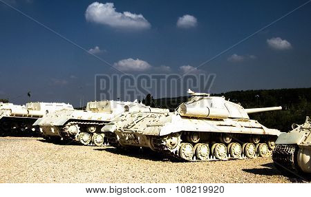 Tanks In Yad La-shiryon Armored Corps Museum At Latrun