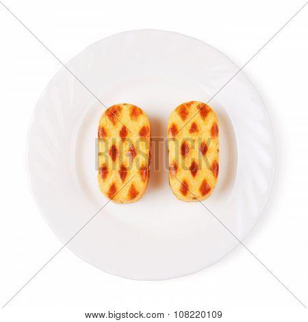 Almond Cookies on Dish